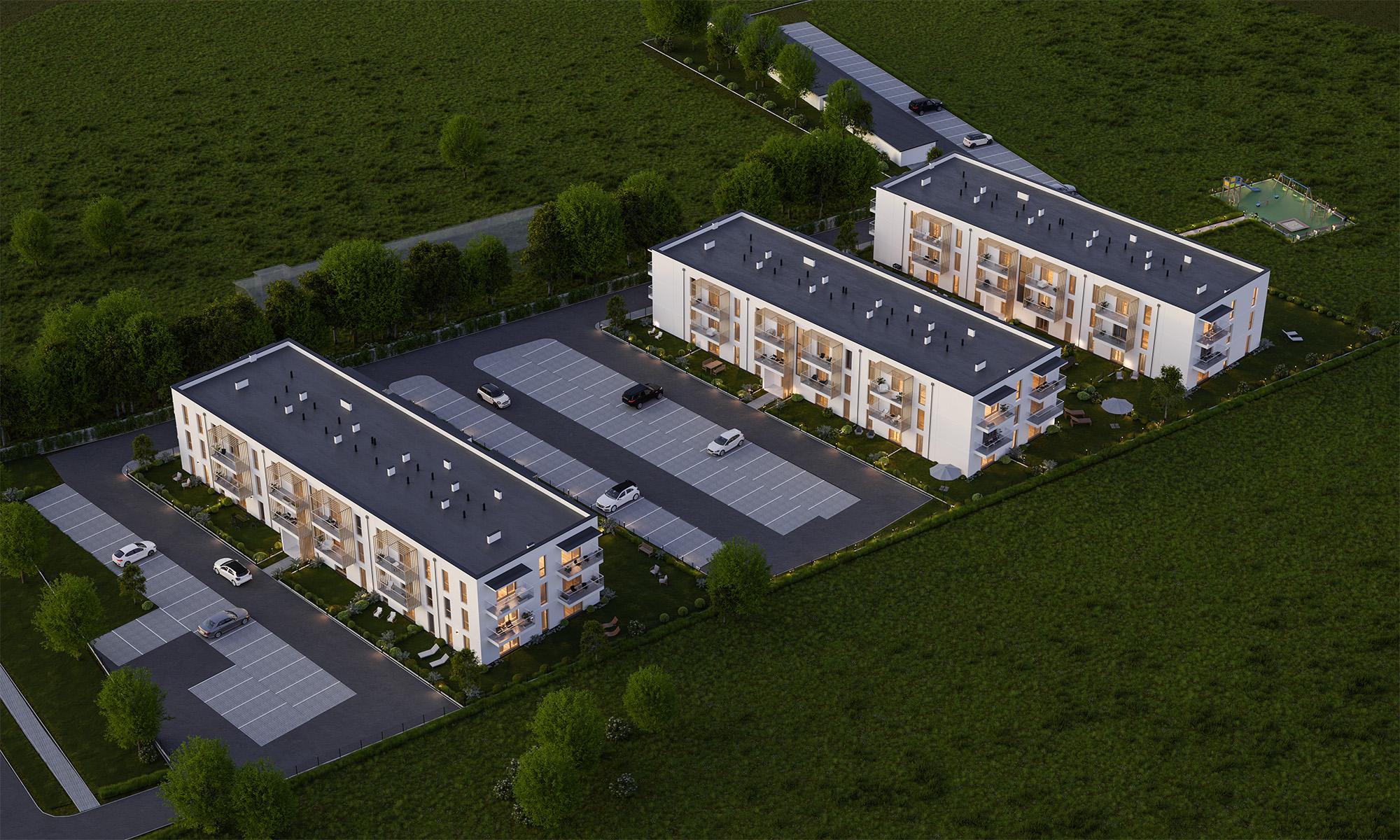 Wizualizacja osiedla w Olsztynku - Jagiełły Park - MMPG